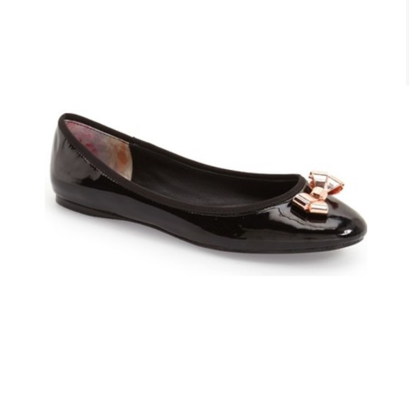 TED BAKER IMME 2 BALLERINA FLAT PATENT LEATHER